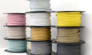 Textile cable on bobbin